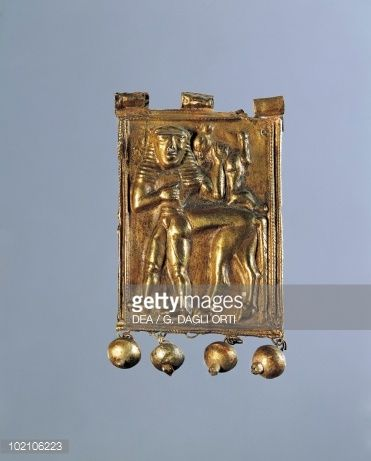 Stock Photo : Gold plaque with figure of centaur, from Kamiro, Rhodes