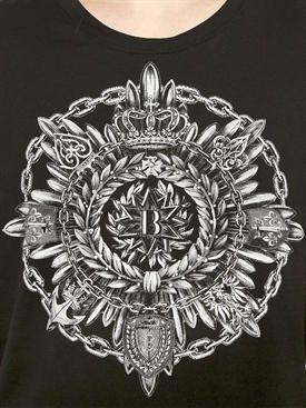 balmain - мужчины - футболки - футболка из хлопкового джерси с принтом