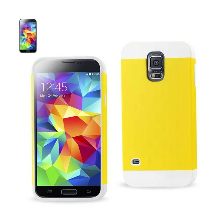 Reiko Tpu+Pc Protector Cover Samsung Galaxy S5 White Yellow