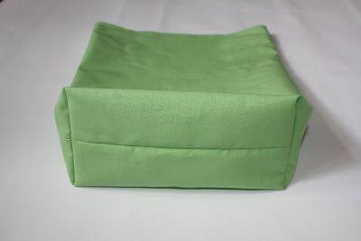 rechteckiger Taschenboden