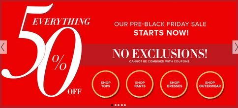 New York & Company 50% off the Entire Site! No exclusions! Online Only! - http://www.pinchingyourpennies.com/new-york-company-50-entire-site-exclusions-online/ #Blackfriday, #Newyorkandcompany, #Pinchingyourpennies