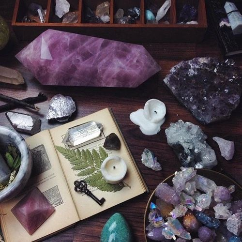 Sacred space: amethysts #witchcraft