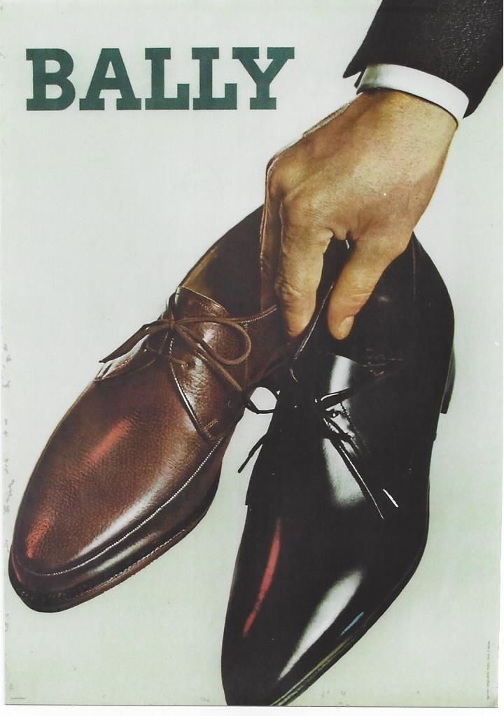 Original vintage poster BALLY MEN'S SHOE FASHION c.1960   eBay