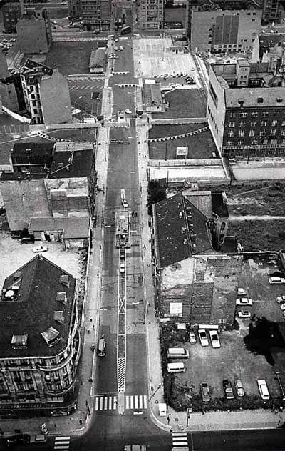 1961 Die Friedrichstrasse von oben
