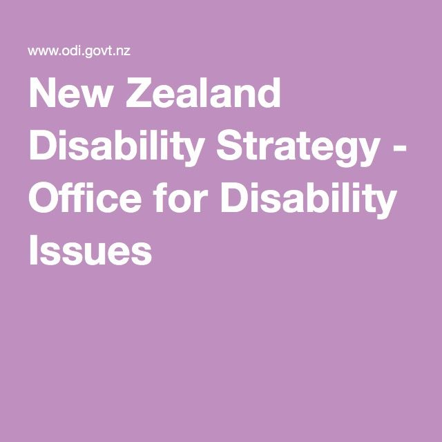 New Zealand Disability Strategy - Office for Disability Issues