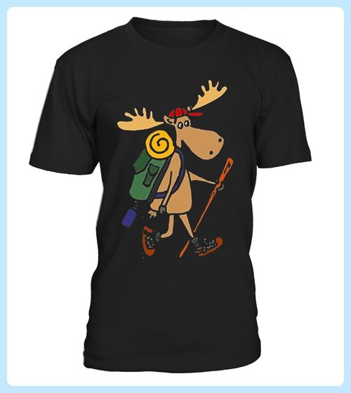 Funny Moose Hiking Tshirt (*Partner Link)