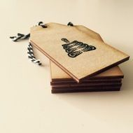 Hand printed with my Oh Christmas Tree motif, these 8 x 4.5cm birch plywood gift tags will make a stylish addition to your Christmas wrapping.  The design has been printed in black ink on one side of the tag leaving the other side blank for your messag...