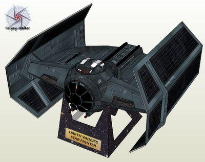 Papercraft - Star Wars Darth Vader Tie Fighter | Papercraft4u | Free Papercrafts, Paper Toys, Paper Models, Gratis