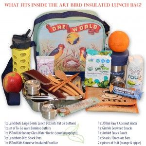 ArtBird Insulated Lunch bags are now available in Australia. This retro-inspired lunch bag fits enough food & drink for 2 people for lunch or an all day feast to get you from morning to night. Just $49.95 from www.shopnaturally.com.au