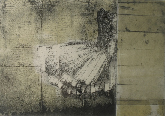 Printmaking :: Karin Ceelen :::: My Dancing Girl. Etching and Photopolymer Intaglio.