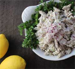 Salad with Poached Blackfin Tuna recipe