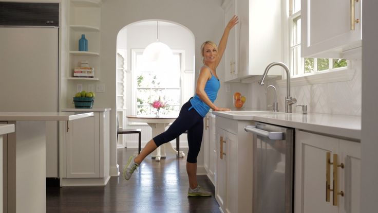 Barre3: Kitchen Workout: Find length and strength with this quick and easy full-body workout from Sadie Lincoln, founder of barre3 Fitness Studios.