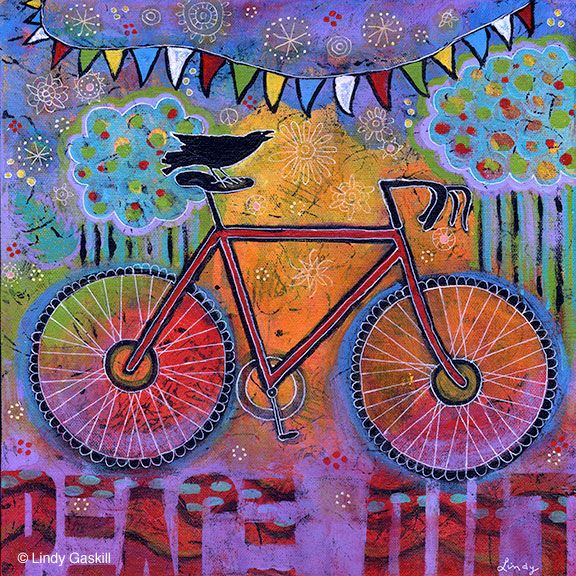 40 best images about bicycle birds on pinterest for Bicycle painting near me