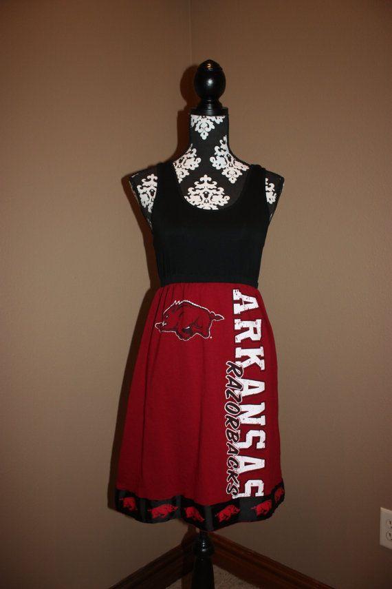 Arkansas Razorback Football Game Day Dress T by trendzbytwinz, $42.50Cute Ideas, Arkansas Razorbacks, Tanks Tops, Razorbacks Football, Football Games, Shirts Tanks, Game Day Dresses, T Shirts, Tops Style