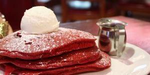 Receta de Panquecas red velvet