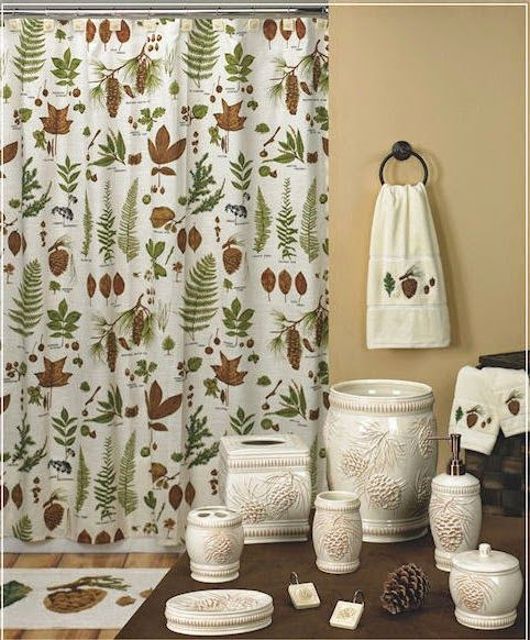 Curtain Ideas: Shower Curtains With Matching Accessories. Bathroom ...