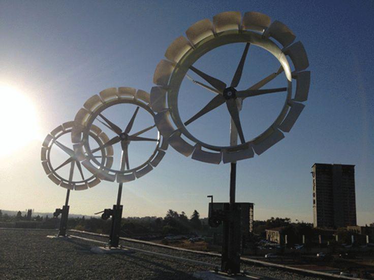 Generatore eolico innovativo di taglia media, multipala con convogliatore di vento                                                                                                                                                      Más