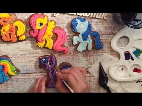 Имбирные пряники: Мастер - класс - Мой маленький пони/ My Little Pony - How to decorate Cookies / - YouTube