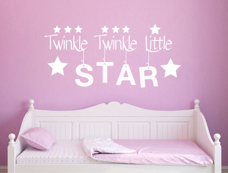 Twinkle twinkle little star wall sticker decal nursery wall decor aspect