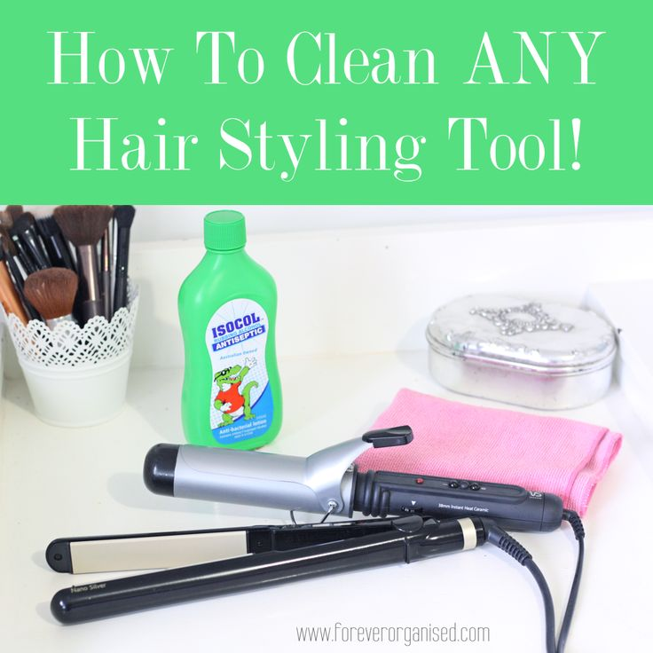 How to clean your hair straightener and curling iron. It is super easy to get them lovely and clean again, and will only take a couple of minutes.
