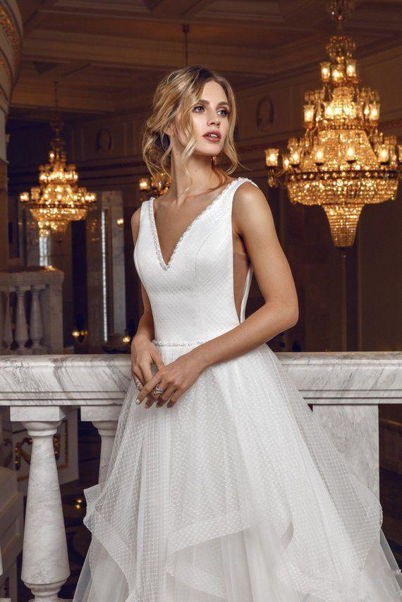 c6b79858b0b5b modern sexy simple open lace tulle wedding dress boho ivory white bohemian  beach wedding long Rustic