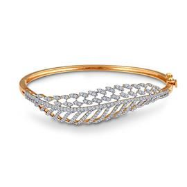 Leaf Twirl Diamond Bracelet