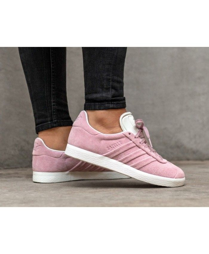 wholesale dealer 6631f 3f32d Adidas Gazelle Stitch And Turn W Wonder Pink White Womens Trainers