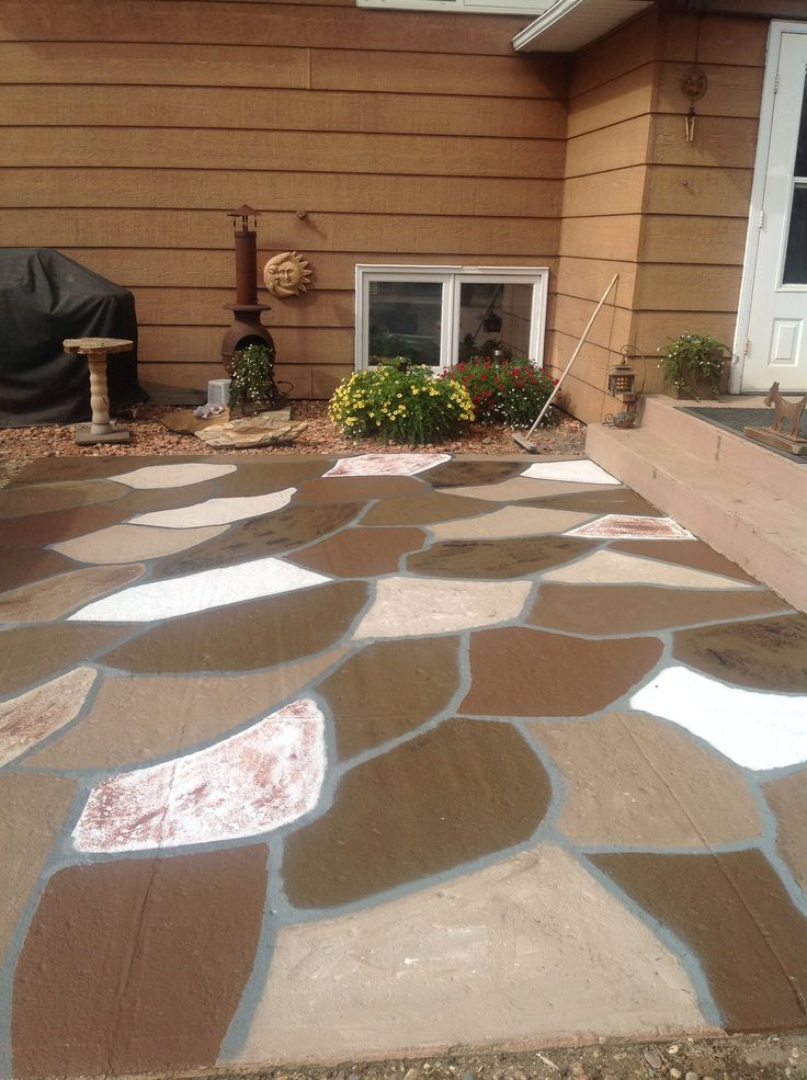 Fake Stone Patio
