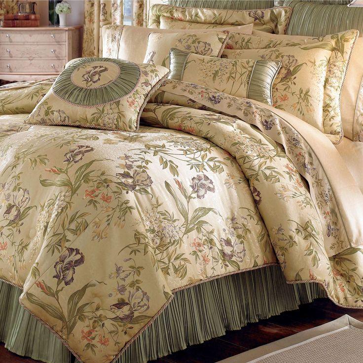 Iris Floral Comforter Bedding By Croscill Croscill