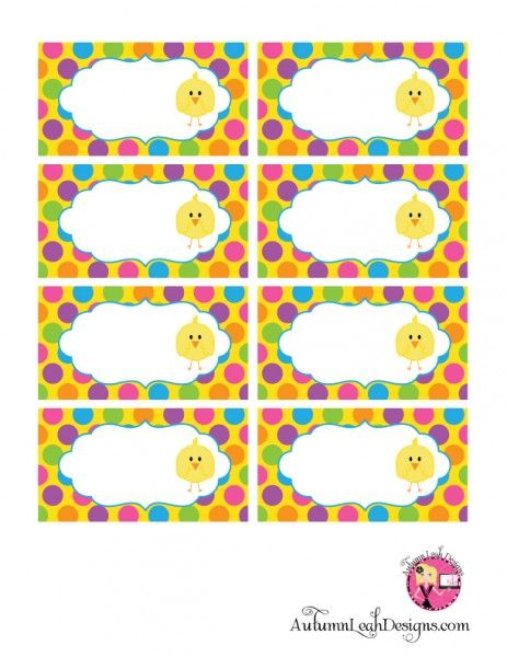 Free Easter party printable food labels from our friends @Catch My Party