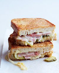 Inside-Out Grilled Ham-and-Cheese Sandwiches Recipe on Food & Wine
