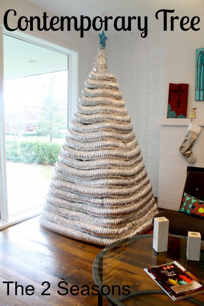 An Industrial Christmas Tree - easy to make; details on www.the2seasons.com