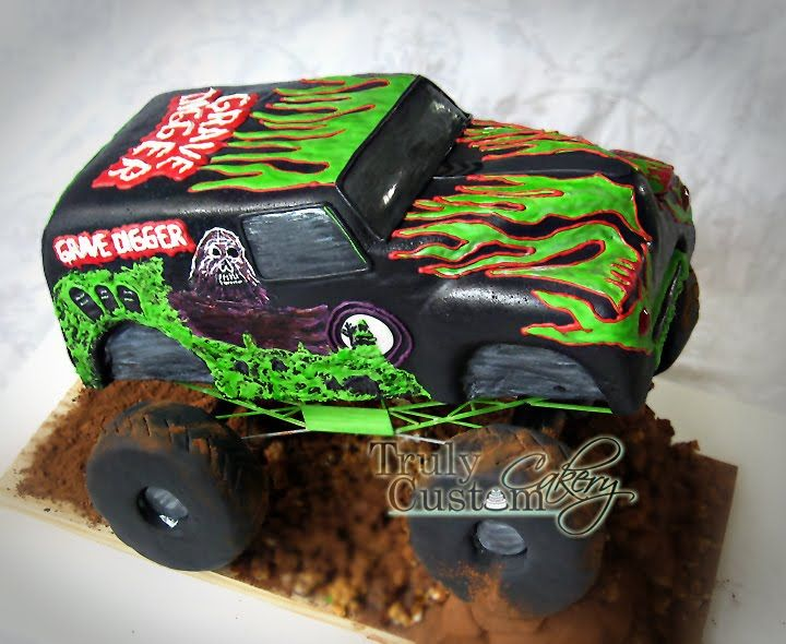 Stacey's Sweet Shop - Truly Custom Cakery, LLC: Grave Digger Monster Truck Birthday Cake