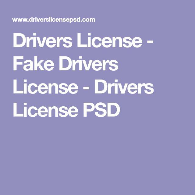 Drivers License - Fake Drivers License - Drivers License PSD