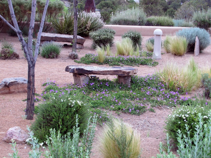 Judicious Plantings For Low Water Garden, Santa Fe, #NM, A Must For