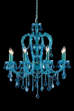 pretty blue chandelier
