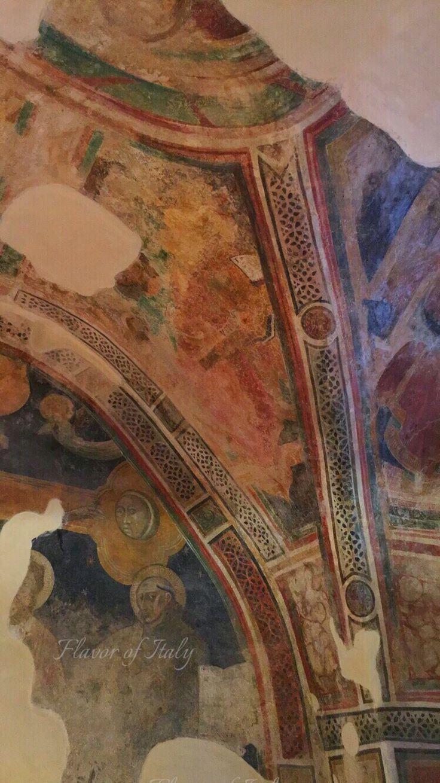 Frescoes Sperlonga, 12th century church, Chiesa di Sanctae Mariae