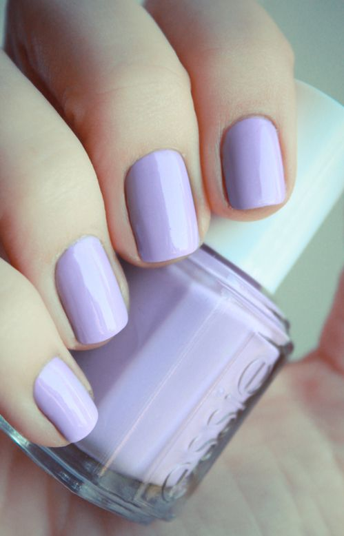#essie #lilac #manicure - for more #nailinspiration MyBeautyCompare Pinterest #nailartist #nailsart #nailstagram #nails2inspire #nailsofinstagran #nailart #naildesign #prettynails #nailpolish #summernails #pearls #princessnails #amazing #stunning #chicnails #glamnails #prettyhands #beautifulfingers
