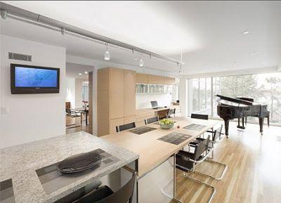casas minimalistas y modernas cocinas integradas