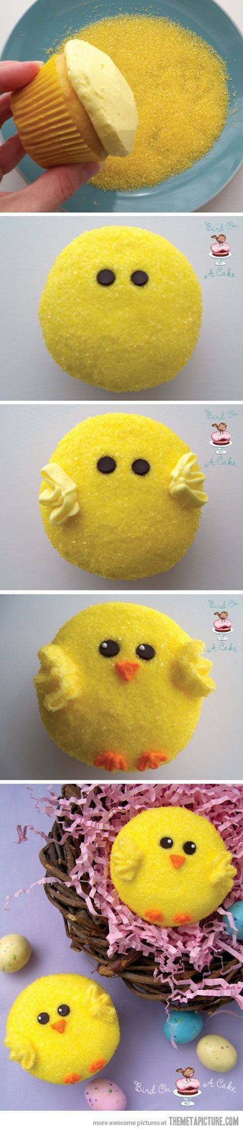 Parfait! Des cupcakes pour pâques. :).
