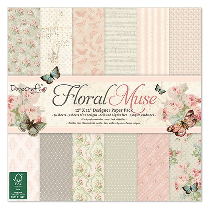 """Dovecraft Floral Muse - 12 x 12"""" Paper Pad 