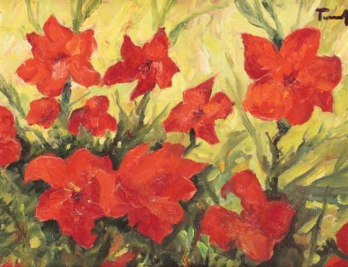 Clematis Red Flowers - Nicolae Tonitza