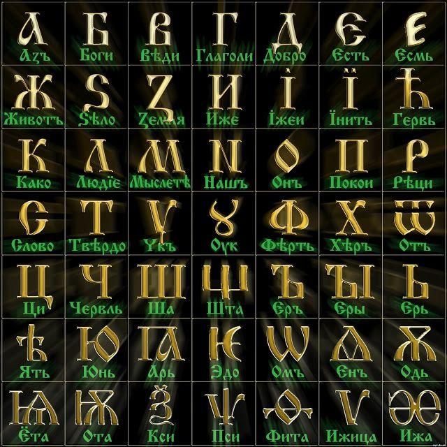 Наша настоящая азбука-Буквица