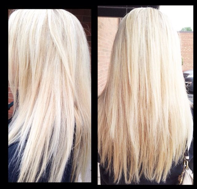 Heavy blonde highlights