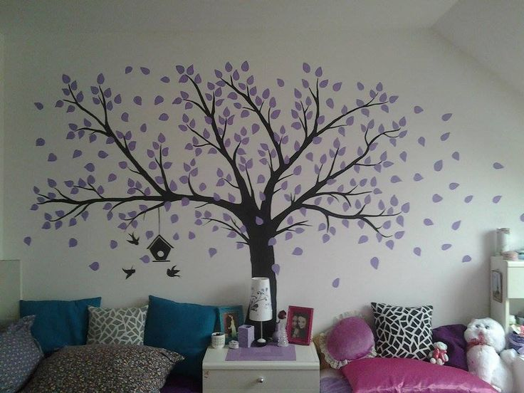 my wall tree :3 painting & listening to music is the best way how to relax ^^
