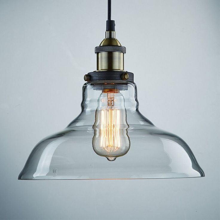 #Pendant#Single#Ceiling#Lamp#Clear#Kitchen#Antique#Vintage#Industrial#Style#New