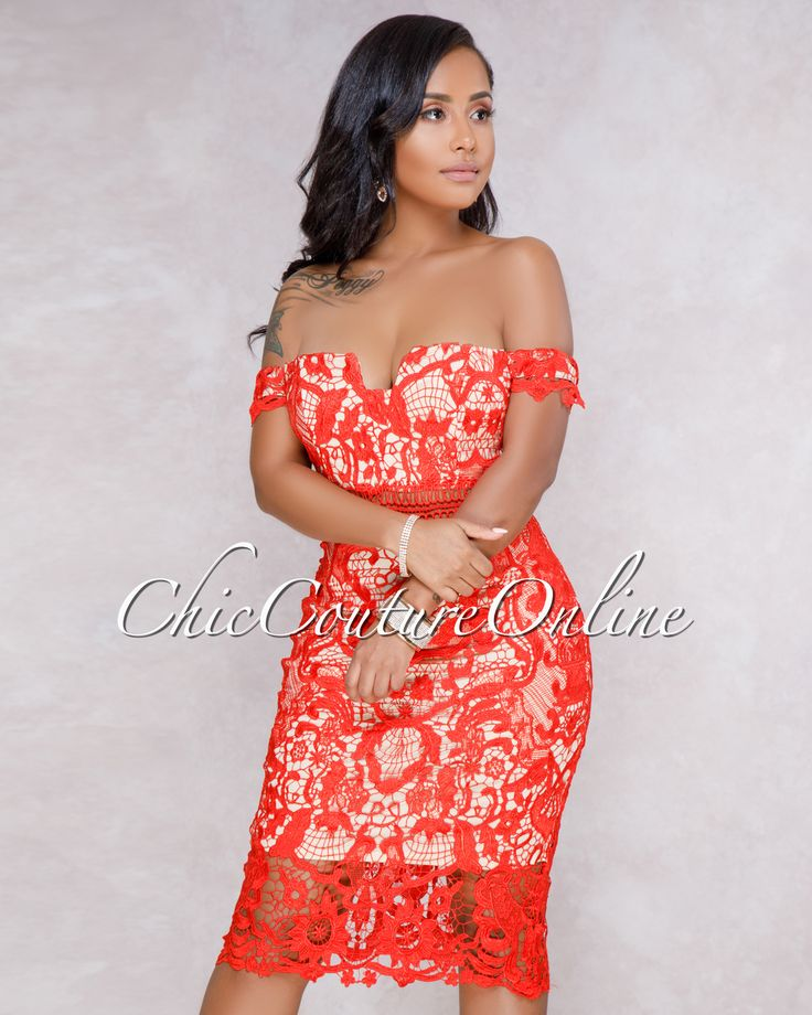 Chic Couture Online - Fiyona Red Off The Shoulder Crochet Mini Dress,  (http://www.chiccoutureonline.com/fiyona-red-off-the-shoulder-crochet-mini-dress/)