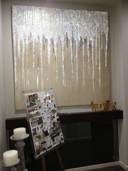Cascade Pearls  colour Champagne Size 1500mm x 1500mm