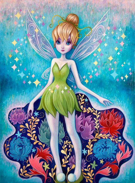 Glitter Garden Glitter Garden, Acrylic on Wood, 18 x 24 inches. Original painting, Limited Edition Giclee and a deluxe prints Available at WonderGround Gallery. WonderGround Gallery is located in the Downtown Disney District at the Disneyland Resort (Anaheim, CA).