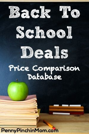 Back to School Price Comparison Tool | www.pennypinchinmom.com